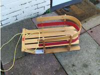 Childs sled made by JAB of Canada wooden light weight