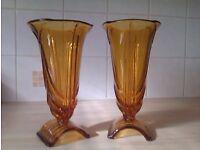 A pair of Greek style Vases (Brown)