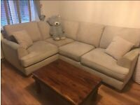 Grey/beige corner sofa