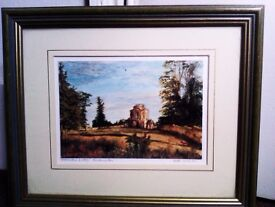 VERY NICELY FRAMED ONE ORIGINAL LTD EDITION PRINT WORCESTER LODGE, PHOTO, PICTURE, PAINTING