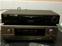 Denon amp awua dvd and sony surround sound