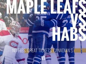 TIKTIKS | Leafs vs Canadiens Oct 3rd @ Scotiabank Arena | Cheaper than Ticketmaster. CAD$. No Fees. Canadian Company!