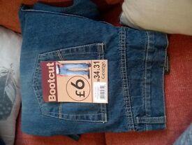 """Mens Jeans x 2 (34"""" w 31/32""""L)"""