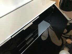 Gloss Black/White Sideboard Unit - only 6 months old! For lounge, bedroom or dining room furniture