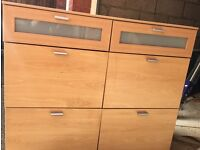 Two matching chests of drawers