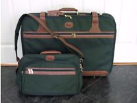 Suitcase and shoulder bag