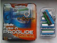 GENUINE Gillette Fusion Power Proglide Blades BIG QUANTITY