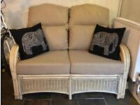 Matching Cane sofa and arm chair