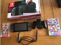 Nintendo Switch Console with 3 Games - MINT CONDITION