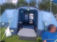 Large family tent for sale: Khyam Ridgi Dome Quick erect system: Model: Longleat plus annexxe