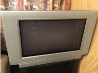 FREE Philips analogue television with remote control in good working condition including tv cabinet