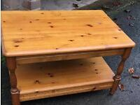 Pine coffee table free delivery