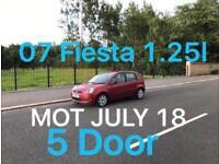 £1250 2007 Fiesta Zetec 1.25l* like punto yaris micra corsa clio aygo c1 107 getz polo