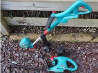 Bosch Accutrim Cordless Strimmer, Accutrim Hedge Cutter, 14.4V Battery & Charger