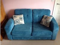 DFS 2 Seater Sofa Bed with matching cushions