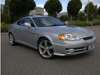 Hyundai Coupe 2.0 3dr 2003 Manual ,94.000 Mileage, Full Leather, Black interior ,Mot.