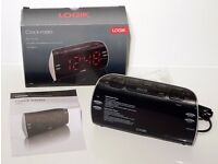 LOGIK CLOCK RADIO - MODEL LCRB15 - FM/AM RADIO - LARGE LED DISPLAY - DUAL ALARM