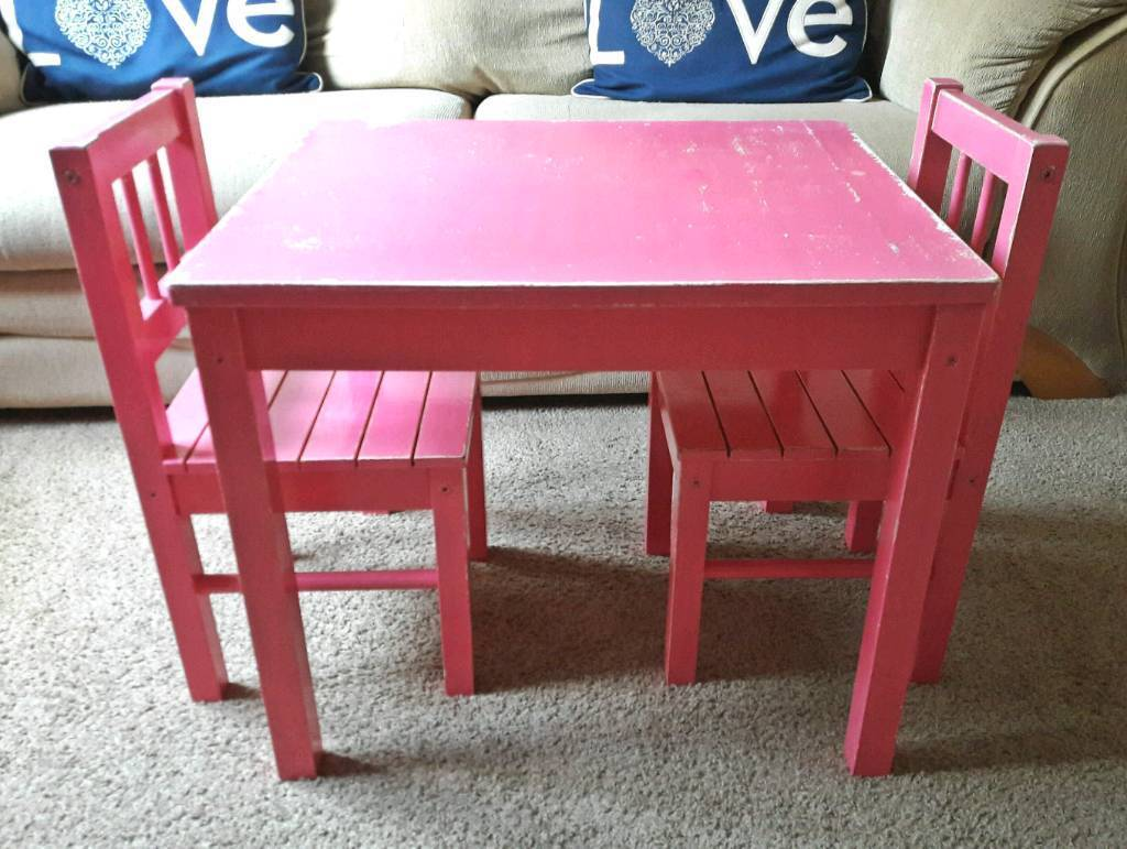 Children's wooden table and chairs