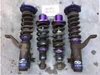 D2 Racing fully adjustable coilovers with camber Integra Type R DC5 Civic EP3
