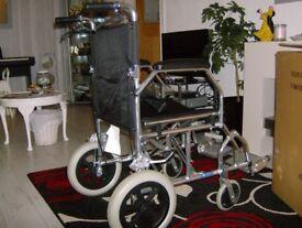 Ultra lightweight foldable aluminium travel wheelchair - Excellent condition!