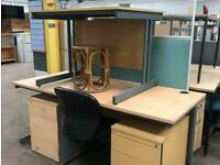 1600mm x 800mm Straight Beech Office Desk