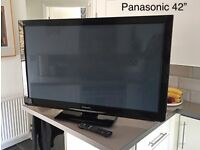 "Panasonic 42"" flat plasma TV"