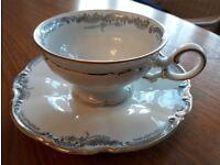 Pretty tea set [cups, saucers, plates etc]
