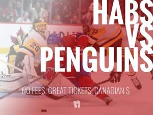 TIKTIKS | Habs vs Penguins Oct 13 @ Bell Centre | Cheaper than Ticketmaster. CAD$. No Fees. Canadian Company!