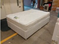 Double bed with four drawers and Miracoil memory foam mattress. Clean