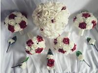 Artificial wedding rose bouquet
