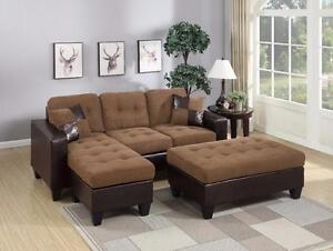 MEUBELCA 499 SECTIONAL WITH OTTOMAN