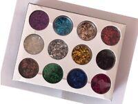 12 Colours Sparkle Glitter Dust Powder Pots Set Nail Art Decoration / Crafts