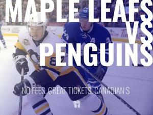 TIKTIKS | Leafs vs Penguins Oct 18th @ Scotiabank Arena | Cheaper than Ticketmaster. CAD$. No Fees. Canadian Company!