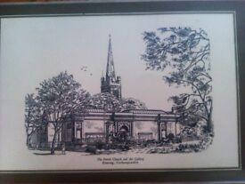 RARE KETTERING PARISH CHURCH AND ART GALLERY MAT