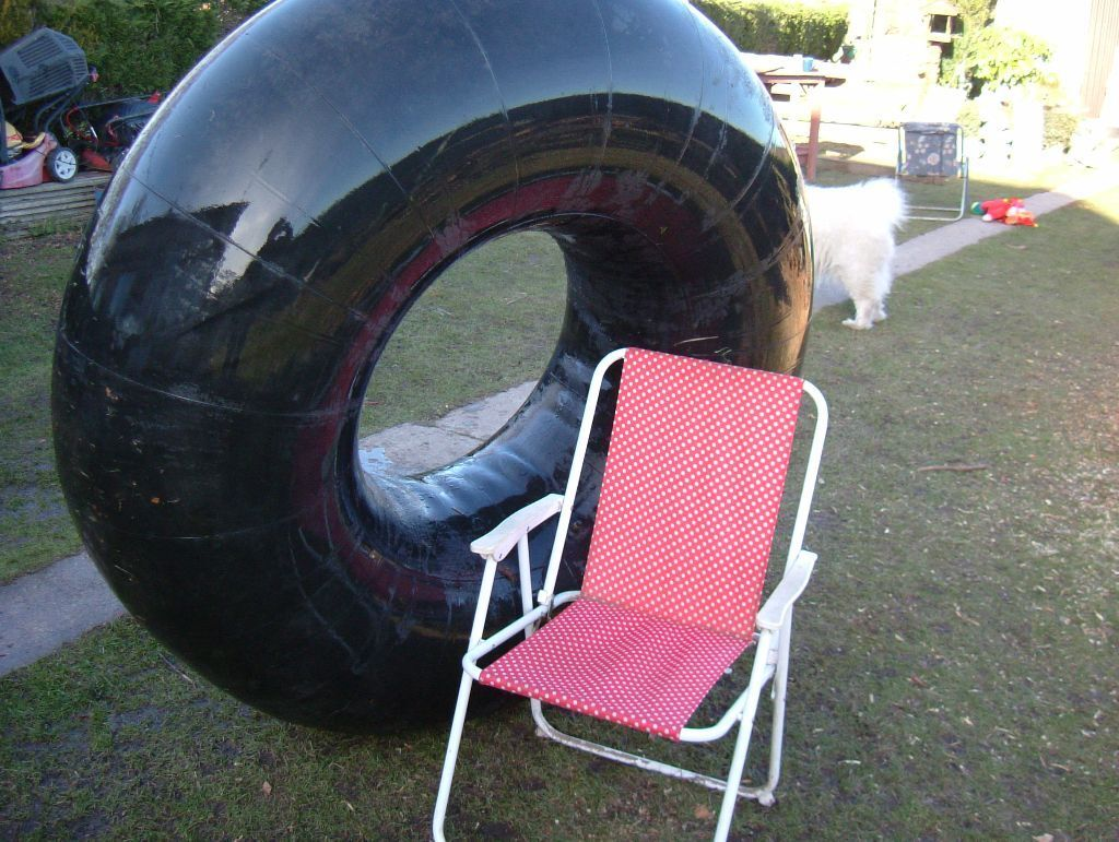 Two Giant Rubber Tractor Inner Tubes Great Dingy S For