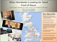 Hilton Worldwide UK is looking for Front Office Team - Receptionist, Switchboard, Luggage Porter