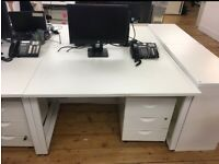 5 x 2 person pod/bench 120cm x 80cm office desk/table £140 each pod set