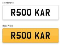 Private car registration R500 KAR