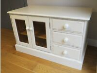 Lovely Solid Pine TV /Cabinet Painted/Distressed in Farrow & Ball
