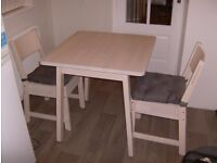 Ikea table & 2 chairs.