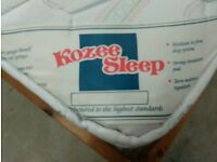 Solid pine bed frame with Kozee Sleep mattress