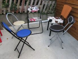 5 chairs 4 folding picnic dining 1 rare chair outdoor indoor chairs garden chair DELIVERY WITHIN LE3