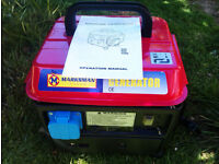 Marksman 650W Generator in Excellent Condition. Hardly Used + Manual.