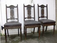 Set of 3 Vintage Dining Room Chairs