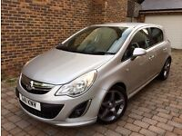 2011 VAUXHALL CORSA SRI AC SILVER 1.4 PETROL MANUAL LOW MILAGE 5 DR