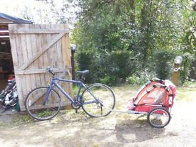 CHILDS DOUBLE BIKE TRAILER...AS NEW
