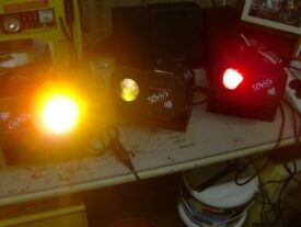 dj/band disco lights £30 each not the plastic crap thats out there now .older used lights
