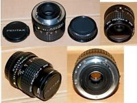 THREE 35mm CAMERA LENSES FOR SALE