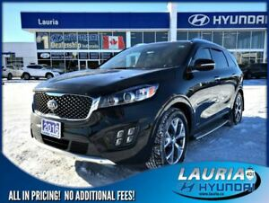 2016 Kia Sorento 3.3L SX+ 7 Passenger - 1 owner - Loaded!