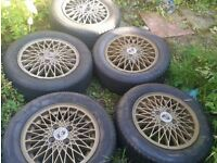 Rare Porsche 924 Weissach Limited Edition Alloy Wheels & Tyres x 5 (Similar to BBS)